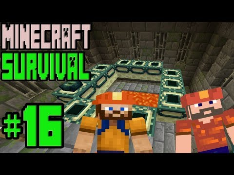 Minecraft : SURVIVAL | END PORTALINI BULDUK !!! | # 16