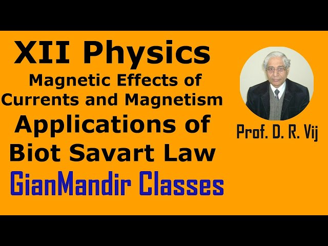 XII Physics | Magnetic Effects of Currents | Applications of Biot Savart Law by Himanshu Sir