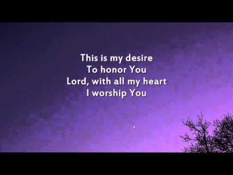 Hillsong - I Give You My Heart (This is My Desire) - Instrumental with lyrics