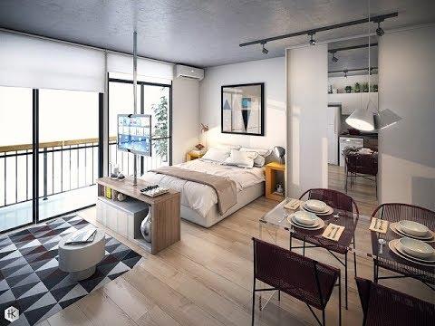 Desain Kamar Tidur Apartemen Studio - YouTube