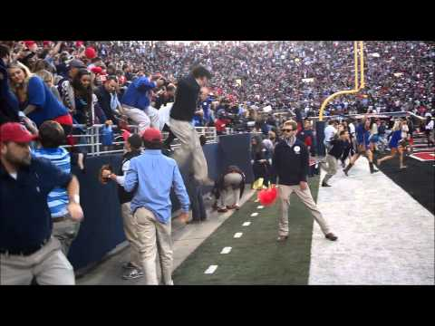 Watch Ole Miss fans storm the field after beating Alabama