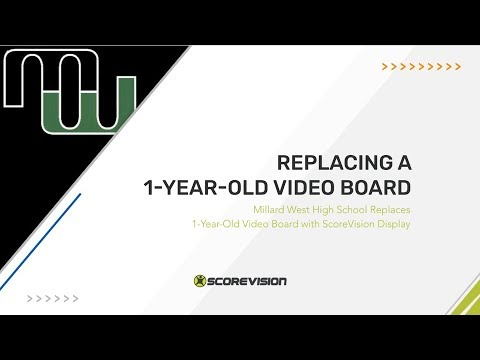 Millard West High School Replaces 1 Year Old Video Board with ScoreVision Displays