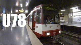 Stadtbahn Düsseldorf Führerstandsmitfahrt Line U78