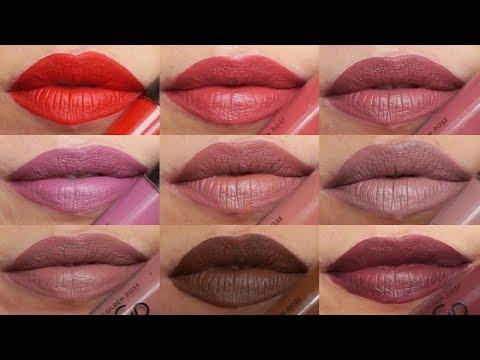 Test I Swatche Golden Rose Longstay Liquid Matte Lipstick Youtube