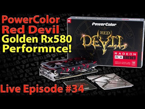 Live Episode #34 PowerColor Red Devil Golden AXRX580 8GB Hyn Cryptomining Performance ! BIOS MODDED