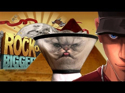 Rock of Ages 2 SPHYNX BOSS Cone of shame for You! | Let's Play Rock of Ages 2 Gameplay