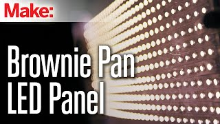 Brownie Pan LED Panel(These Brownie Pan LED Panels are an ultra-affordable, DIY solution for video production lighting. There's a lot of soldering involved, but it's easy stuff, so this is ..., 2015-04-17T17:59:31.000Z)