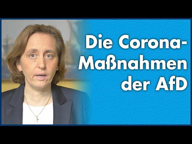 Beatrix von Storch (AfD) - Vorgeschlagene Corona-Maßnahmen der AfD im Deutschen Bundestag