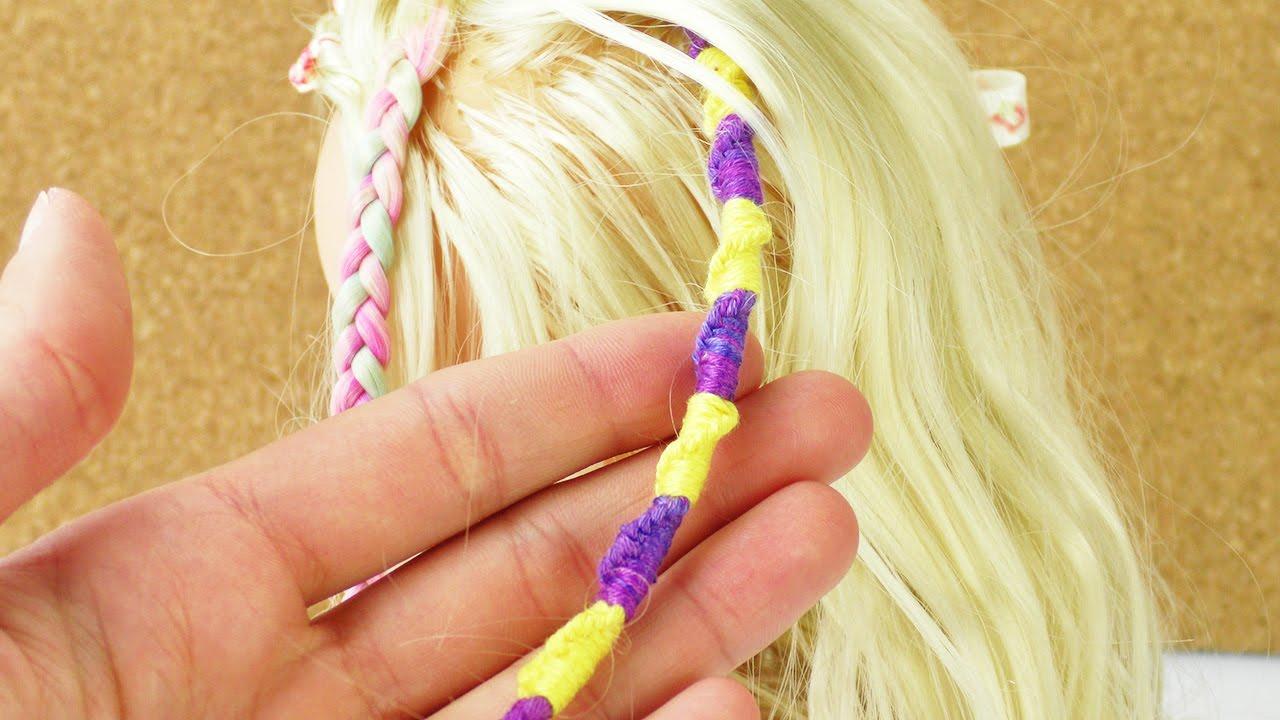 Haarsträhne Mit Baumwolle Umknüpfen Süßer Zopf Für Kinder Youtube