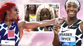Sha'Carri Richardson claps back at Shelly-Ann Fraser-Pryce after she laughed at her on national TV😂
