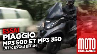 PIAGGIO MP3 500 et  PIAGGIO MP3 350 -  ESSAI SCOOTER 2018