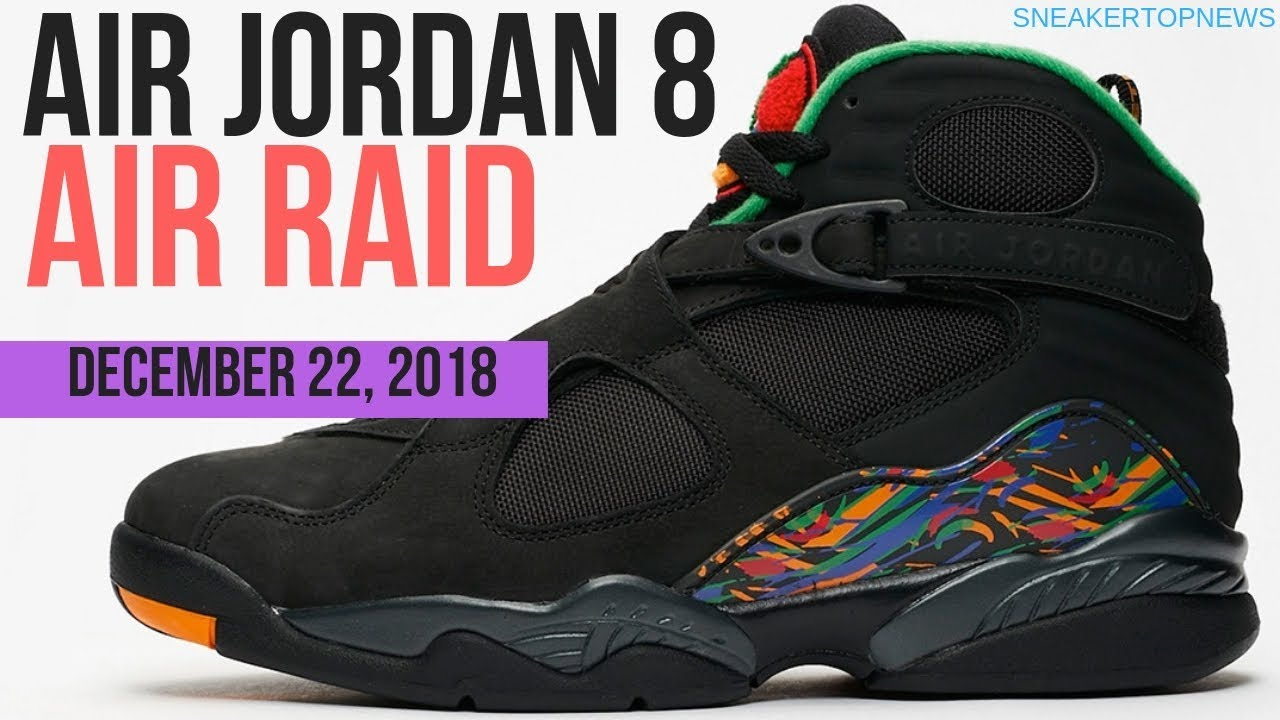 uk availability c760f 38cf0 The Air Jordan 8 Air Raid Release Date December 22 2018 | unbreakable kicks  tinker mall vlog