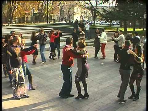 "BNT 2 Flashmob Salsa club ""Amigos"" in Ruse, Bulgaria"