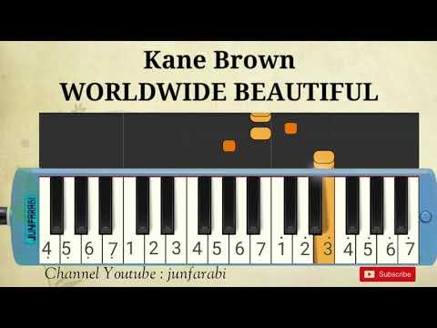 Kane Brown – WORLDWIDE BEAUTIFUL – melodika easy