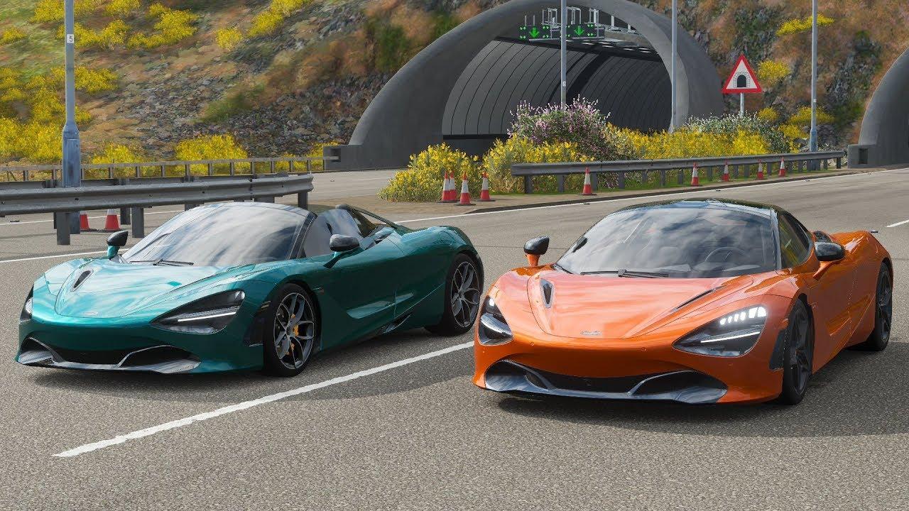 Forza Horizon 4 Drag Race: McLaren 720s Spider Vs 720s