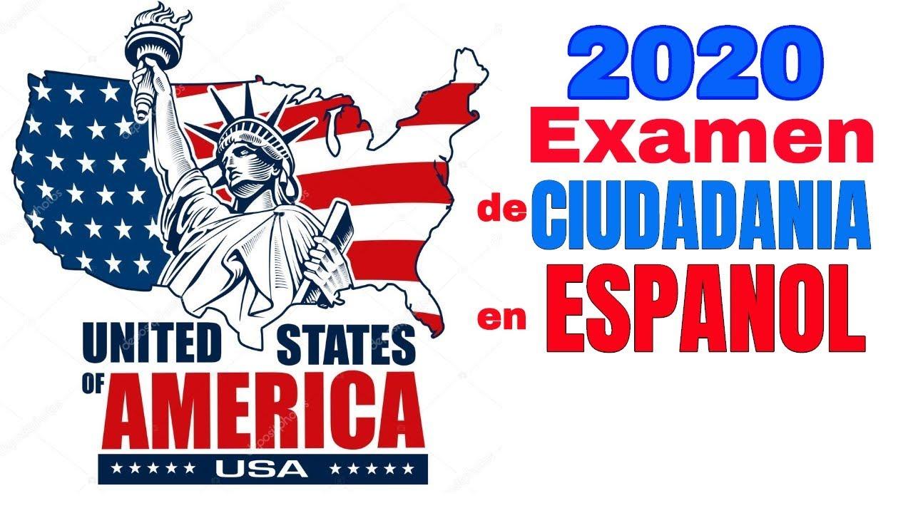 Nuevo Examen De Ciudadania Americana 2020 En Español Preguntas De La Entrevista Youtube