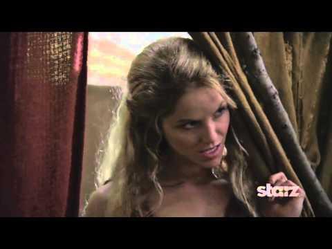 Ellen Hollman as SAXA on Spartacus, War of the Damned
