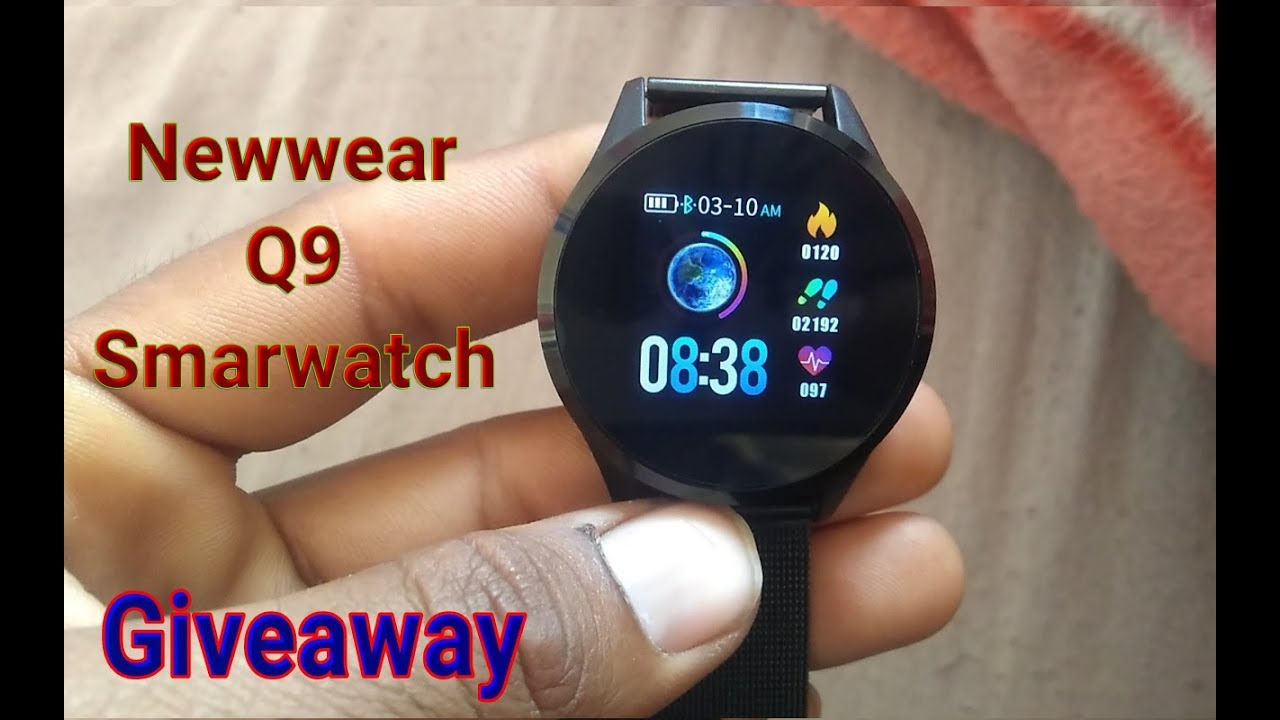 Banggood- Newwear Q9 Smart watch Unboxing and review | Giveaway|