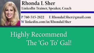 Kathleen Gage testimonial for Rhonda Sher