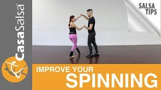 Salsa Tips on how to improve your spinning : Prep Breakdown & Exercise