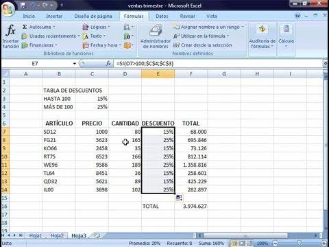 C 243 Mo Utilizar Las Funciones Matem 225 Ticas De Excel Ii