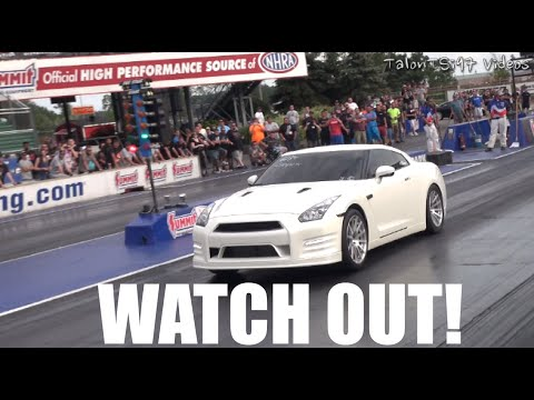 WATCH OUT! 8-Sec GT-R Hits a Flock Of Seagulls!