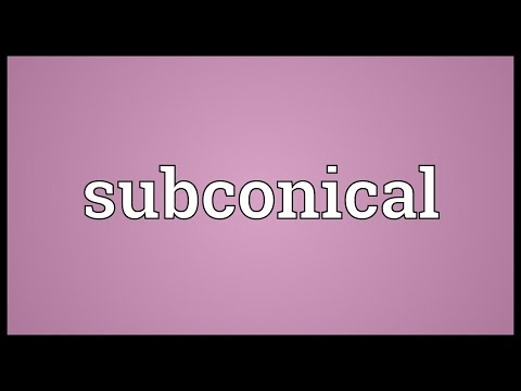Header of subconical