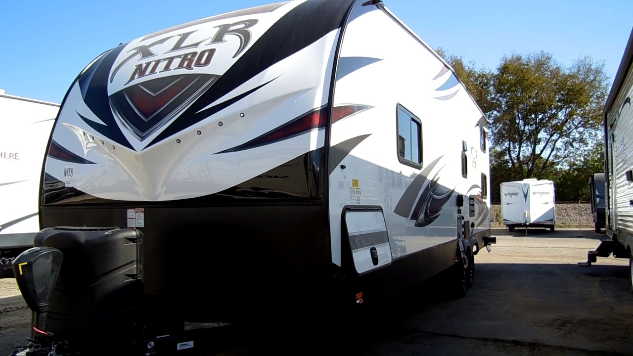 2018 1 2 Xlr Nitro 25kw Toy Hauler At Couch S Rv Nation A Wholer