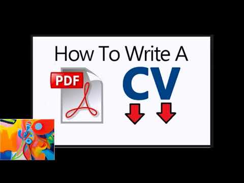 Check Out How To Write Cv Pdf