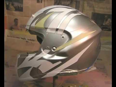 airbrush helmet Shoei Lorenzo custompaint by Mau Design