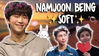 a video of namjoon being soft