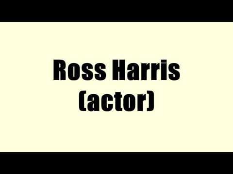 Ross Harris (actor)