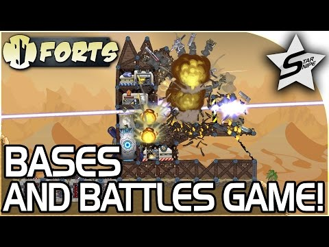 FORTS, The AMAZING SANDBOX BASES and BATTLES GAME! - Forts Game Gameplay Part 1 - Forts Campaign