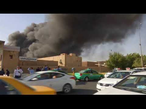 BREAKING! Large fire at warehouse for ballots from disputed Iraqi election