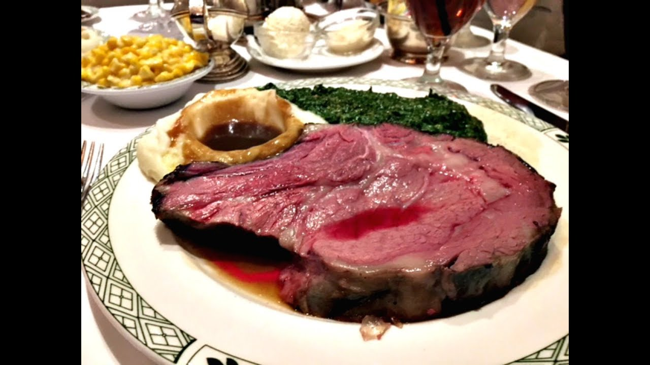 Lawry S The Prime Rib Carving Cart Service Tableside Christmas Eve Carolers