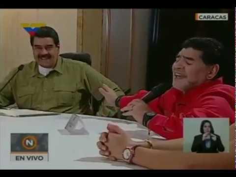 Presidente Nicolás Maduro en lunes de regiones con Diego Armando Maradona, 6 noviembre 2017