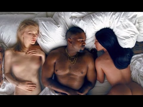 Kanye West Puts Naked Taylor Swift Rihanna Trump Cosby In New Famous Music Video