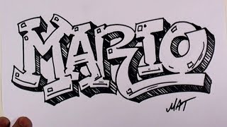 Graffiti Writing Mario Name Design #38 in 50 Names Promotion | MAT
