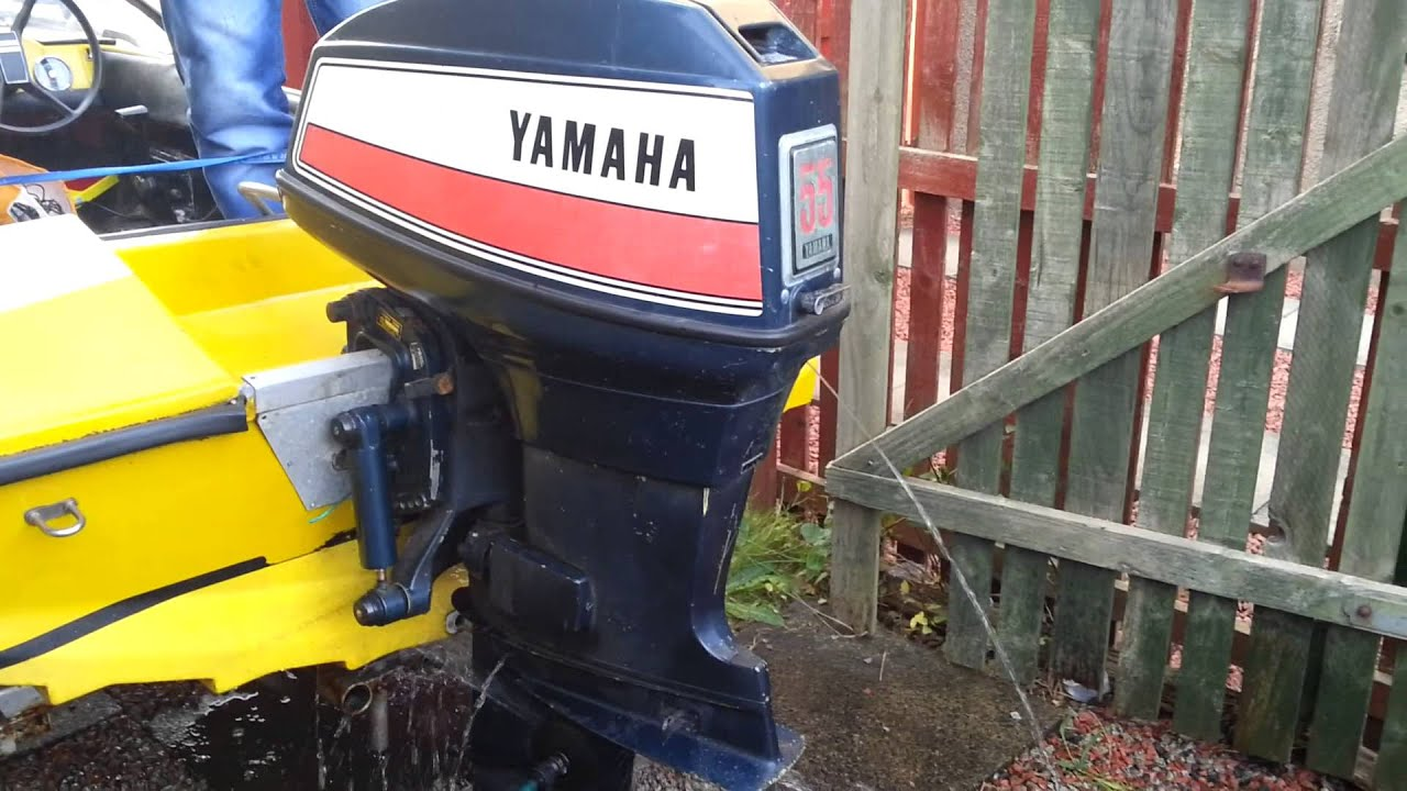 Yamaha 55 am outboard running youtube for 25hp yamaha 2 stroke