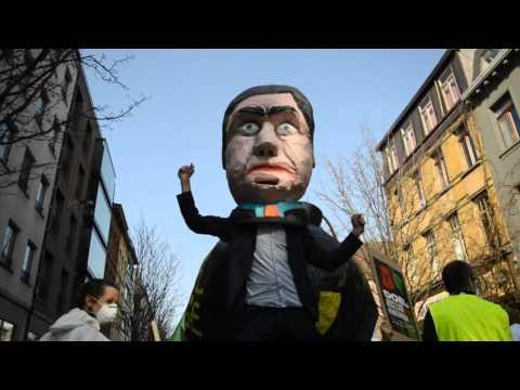 Manifestatie tegen kernenergie Doel voor hernieuwbare energie 2016