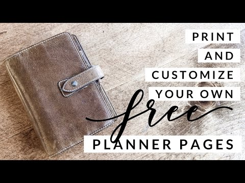 How to make FREE Filofax planner pages | Print your own | DIY Planner