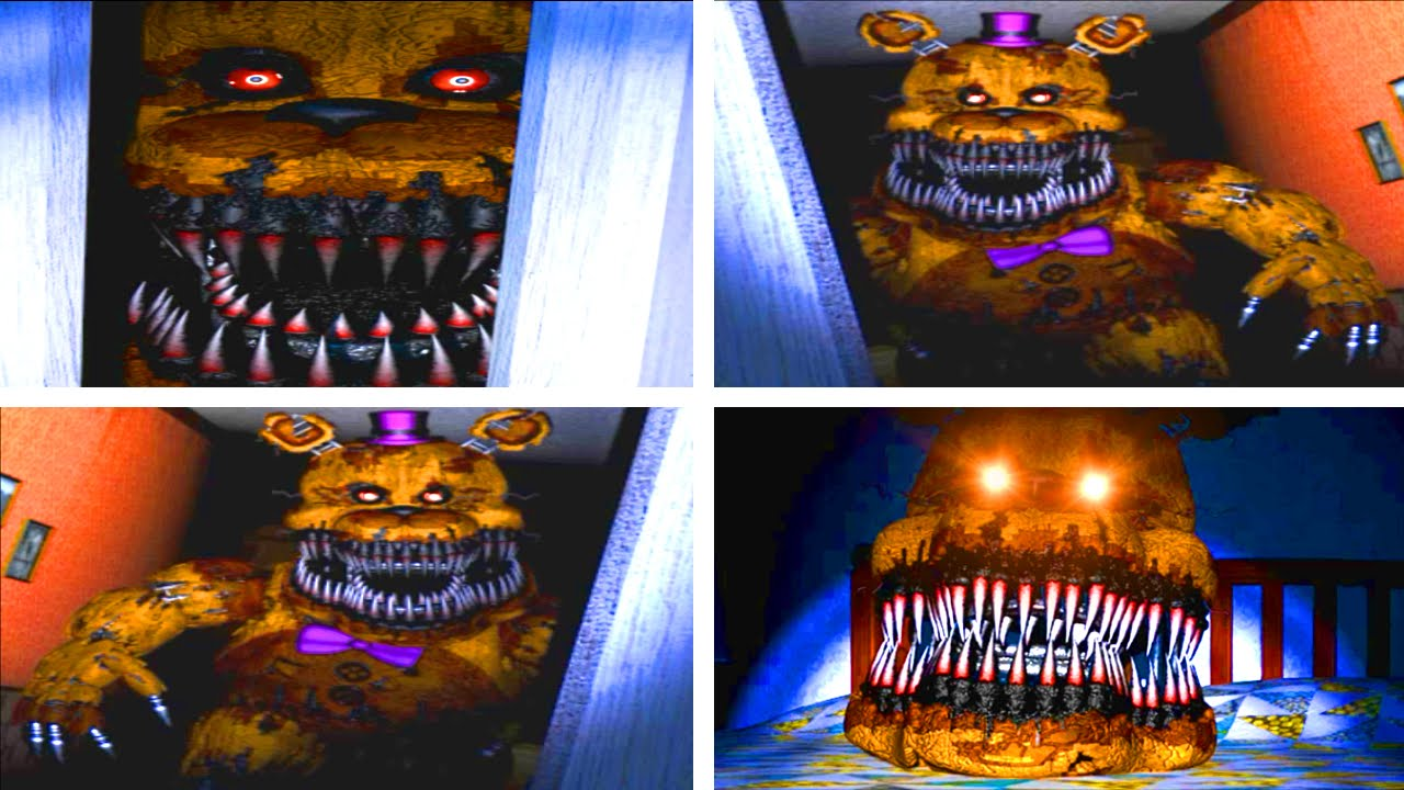 Download Five Nights at Freddy's 4 All Golden Fredbear Jumpscares