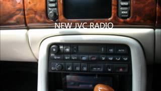 JAGUAR XK8 radio replacement,new radio and sat nav on orginal screen