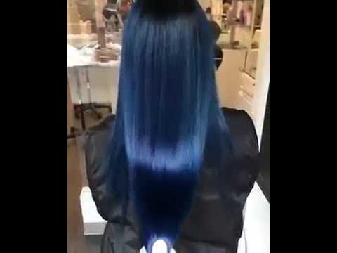 بلو بلاك Blue Black لون شعر اسود مزرق2019 Youtube