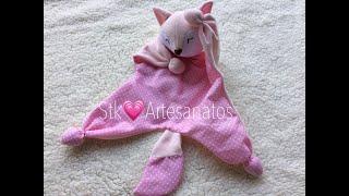 Aprenda a Fazer Naninha de Bebê – Raposinha Rosa