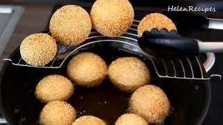 SESAME BALL RECIPE - Bánh rán / Bánh Cam