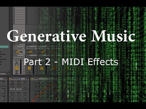Random MIDI Effects to Generate Melodies