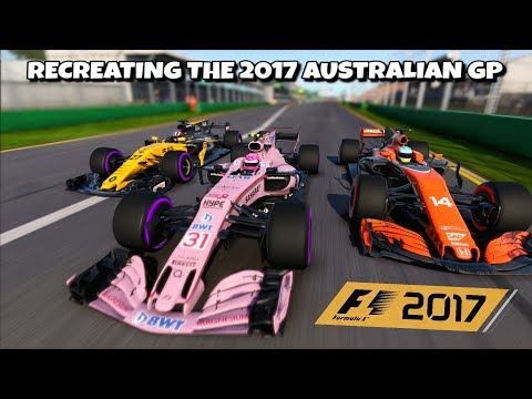F1 2017 GAME: RECREATING THE 2017 AUSTRALIAN GP