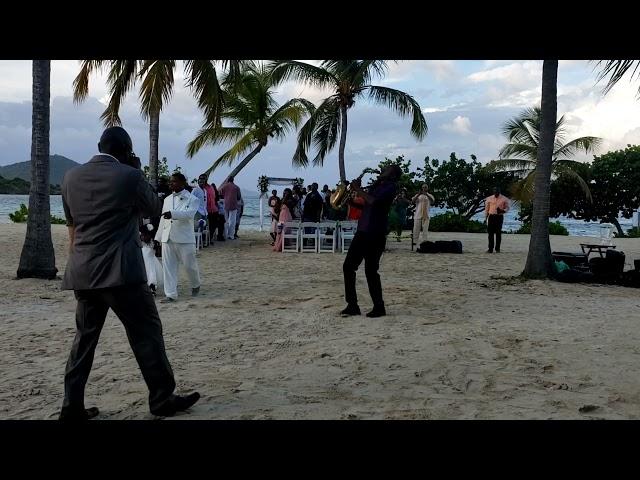 St Thomas Virgin Islands Sapphire Beach Wedding Saxophone Entertainment
