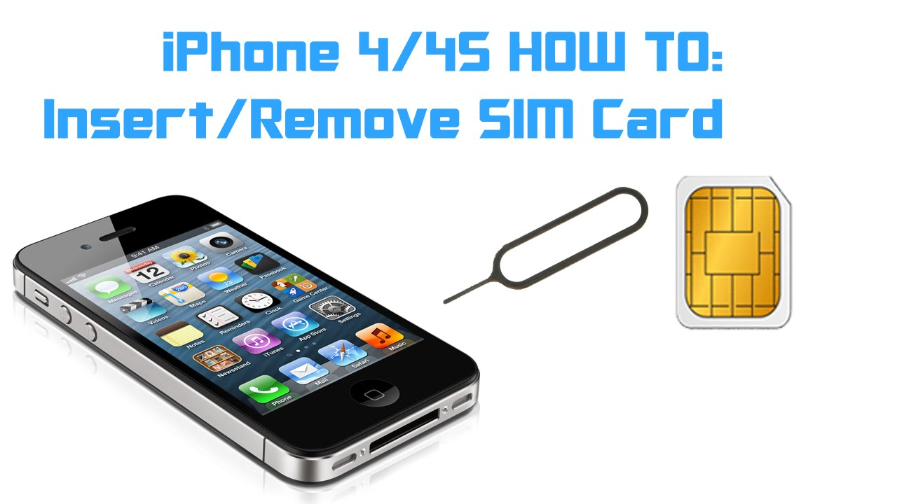 how to remove sim card from iphone 4 iphone 4 4s how to insert remove a sim card 3293